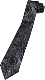 VanHeusen Men's Paisley Tie, Black