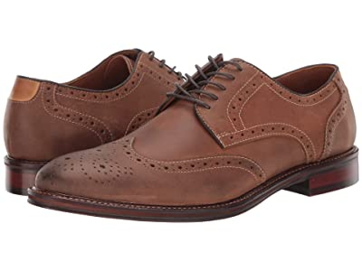 Johnston & Murphy Warner Wingtip (Tan Oiled Full Grain) Men
