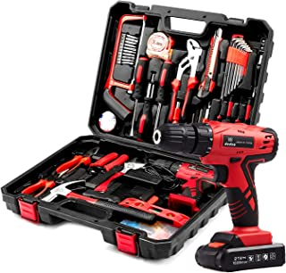 Sponsored Ad – Dedeo Tool Set with Drill, Cordless Hammer Drill Tool Kit 110Pcs Household Power Tools Drill Set with 21V L...