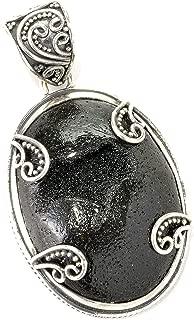 Samuel B. Sterling Silver Black Iron Ore Pendant.