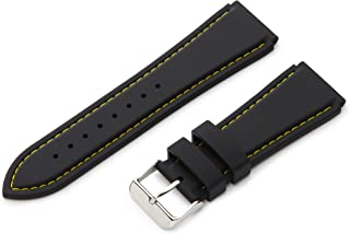 Hadley-Roma Men's Genuine Silicone Diver Sport Watch Strap