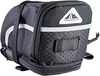 MARQUE Capsule Bike Saddle Bag - Bicycle Under seat Storage for Road and Mountain bikepacking and Commuter