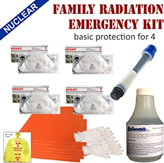 ☢ Family Radiation Protection Emergency Kit - Basic protection from radioactive iodine I-131 during a nuclear radiation emergency