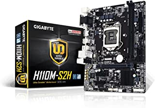 Gigabyte GA-H110M-S2H, Placa base (LGA 1151, DDR4 x 2, 2133 MHz, VGA, HDMI, DVI, M-ATX), Color negro
