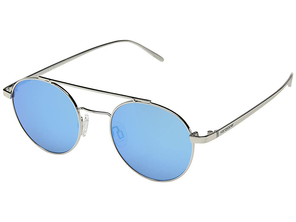 fad072f8a2d VonZipper Skiffle (Silver Ice Chrome) Athletic Performance Sport Sunglasses