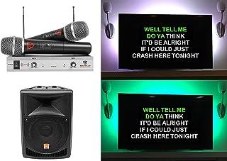 "Rockville 8"" Powered Pro Karaoke Machine/System w/LED`s+(2) Wireless Microphones"