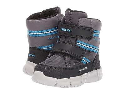Geox Kids Flexyper Babx 2 (Toddler) (Grey/Blue) Boys Shoes