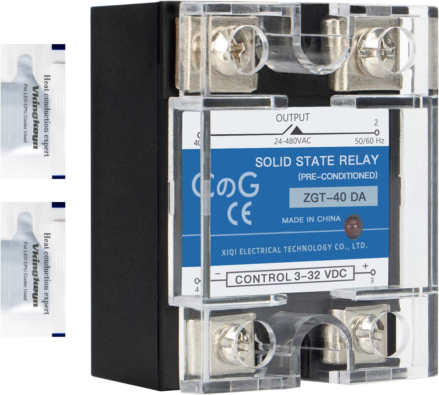 CG Outlet ☆ Free Shipping Solid State Relay Max 45% OFF SSR-40DA DC to 3-32VDC Output AC Input To 2