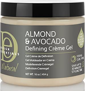 Design Essentials Natural Almond & Avocado Curl Defining Creme Gel For All Curl Types - 16 Oz
