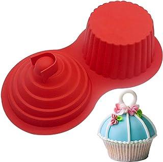 ALUYF Moule à Cupcake Géant en Silicone Moule à Fromage Grand Moule à Cupcake Grand Moule à Muffins en Silicone Moule à Cu...
