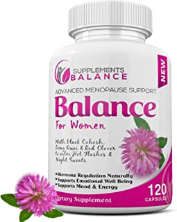 Hormone Balance & Menopause Relief for Women | 120 Capsules 2 Months of Hot Flash | Support for Women | Black Cohosh, Dong...