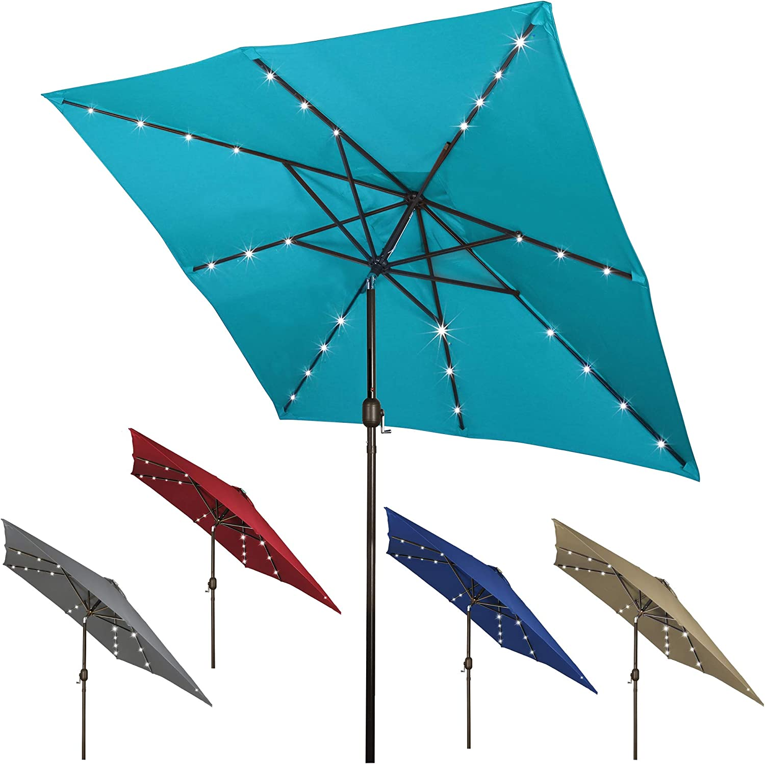 Our shop OFFers the best service Blissun Square New Shipping Free Shipping Patio Umbrella with LED 28 Solar Lights