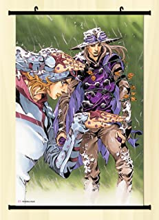 Home Decor Anime JoJo's Bizarre Adventure Wall Scroll Poster Fabric Painting Key Roles 23.6 X 35.4 Inches -08