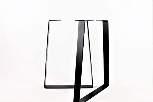 Powdercoated Trapezoid Steel Desk Legs Choose Your Height And Width