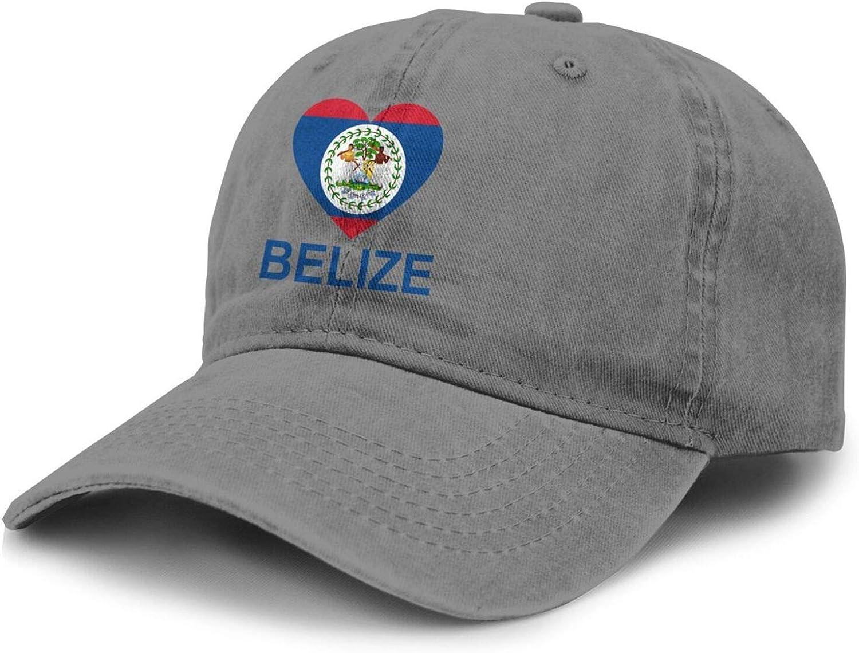 Love Belize Adult Curved Brim Baseball Hat Sports Cowboy Cap