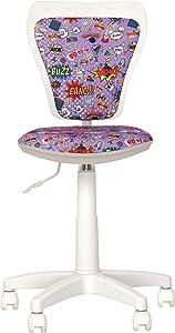 Ministyle- Sedia da ufficio per bambini. Girevole a 360 °.Regolabile in altezza Sedile regolabile, schienale regolabile.