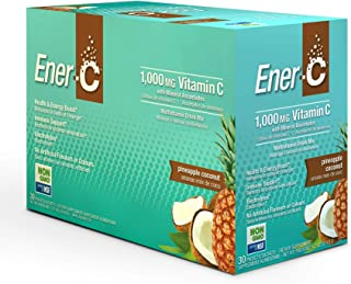 Ener-C - Vitamin C Immune Support, 1000mg Vitamin C Effervescent Multivitamin Drink Powder, Fruit Juice Vitamin C Drink Mi...