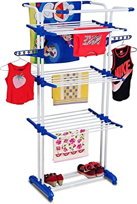 PAffy 3 Poll 3 Layer Cloth Dryer Stand – King Jumbo (Multi-Color)