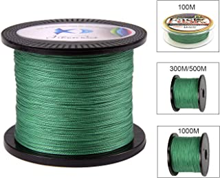 JSHANMEI PE Braided Fishing Line 100M - 1000M Abrasion Resistant Braided Lines 4 Strands High Performance Super Smooth PE Fishing Line for Freshwater Saltwater Fishing