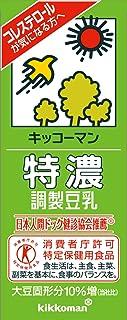 キッコーマン 特濃調整豆乳(特定保健用食品) 200ml 60本セット(30本入×2)常温保存可能