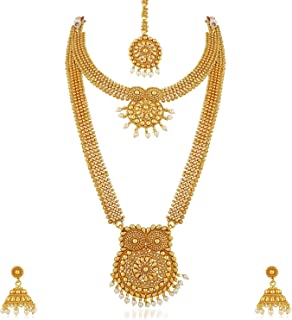 3c1400145 Vareeca Combo Copper Log Hara Necklace Jewellery Set with Earrings for  Women (Combo1)