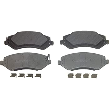 Wagner ThermoQuiet MX966B Semi-Metallic Disc Pad Set With Installation Hardware Front