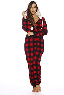 Best Buffalo Plaid Adult Onesie/Sherpa Lined Hoody/One Piece Pajamas Review