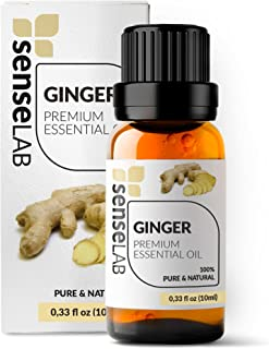 SenseLAB Indian Ginger Essential Oil - 100 % Pure Extract Ginger Oil Therapeutic Grade - Massage and Hair Care Oil (10 ml)