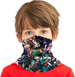 My Hero Academia Seamless Face Cover/Headband, Scarf, Multi-Functional Full-Coverage Tube Bandanas For Boy/Girl 4-One Size