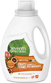 Seventh Generation liquid laundry detergent, Fresh Citrus, 1.47L