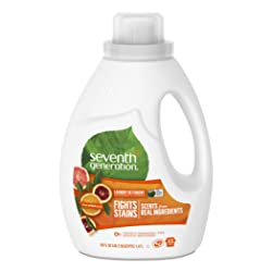 Seventh Generation Liquid Laundry Detergent, Fresh Citrus scent, 50 oz, 33 Loads (Packaging May Vary