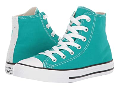 Converse Kids Chuck Taylor(r) All-Star(r) Galaxy Dust Hi (Little Kid/Big Kid) (Turbo/Green/Natural Ivory/White) Girls Shoes