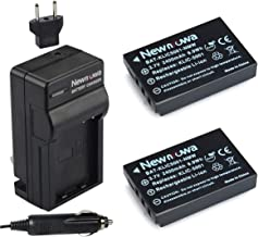 Newmowa KLIC-5001 Replacement Battery (2-Pack) and Charger kit for Kodak Easyshare P712 P850 Z730 DX6490 DX7440 DX7590 DX7630 Zoom Camera as Sanyo DB-L50