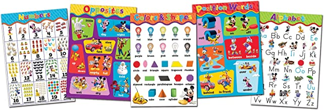 Eureka Mickey Mouse Bulletins Preschool Decorations, 0.1'' x 18'' x 28'' inches, 5pc