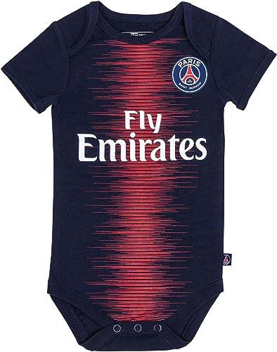 PARIS SAINT-GERMAIN Body bébé Maillot Domicile PSG - Collection Officielle Bébé garçon