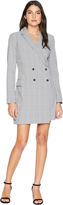 Celeste Woven Plaid Blazer Dress