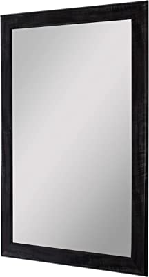 Amazon Com New Black Modern Metallic Look Rectangle Wall Mirror
