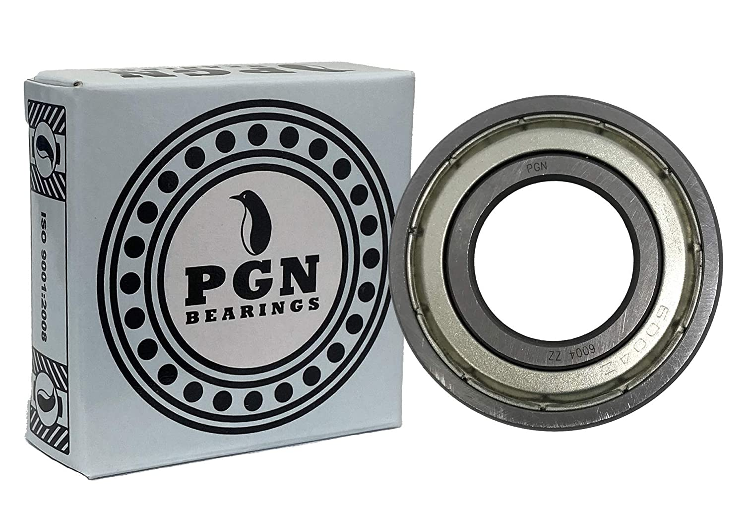 2 Fashionable Pack PGN - 6004-ZZ Japan's largest assortment Bearing Ball Lubric 20x42x12 Shielded