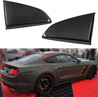 Cuztom Tuning Fits for 2015-2018 Mustang R Style Carbon Fiber Side Window Quarter Scoop Louver Covers