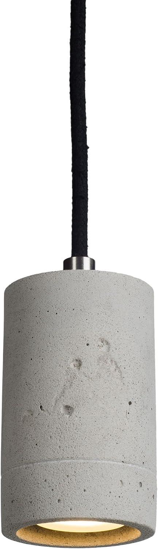 LED Pendelleuchte Beton natur mit dimmbarem GU10 Leuchtmittel von OSRAM in warmwei 5,9W Hngeleuchte Betonleuchte mit schwarzem Kabel