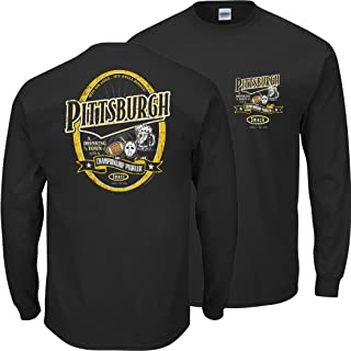 Pittsburgh Football Fans. Pittsburgh A Drinking Town with A Championship Problem Black T-Shirt (Sm-5X)