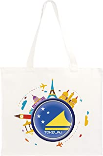 Typolithography Ghisleri Shopper 40x40 Tokelau Travel Abstract Flag123 Long Handles