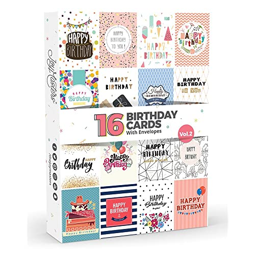 16 X Birthday Cards By Joy MastersTM Vol2