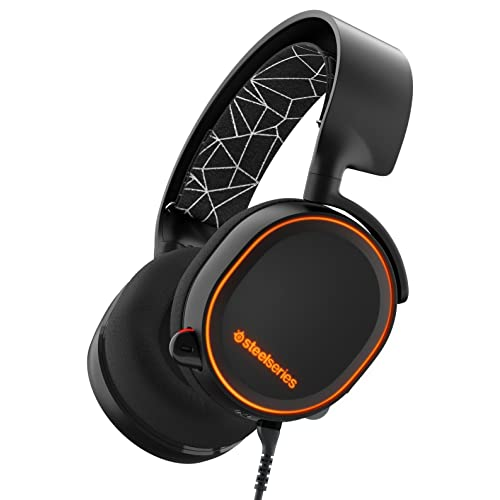 57b397fb1c2 SteelSeries Arctis 5 RGB Illuminated Gaming Wired Headset with DTS Headphone X  7.1 Surround for