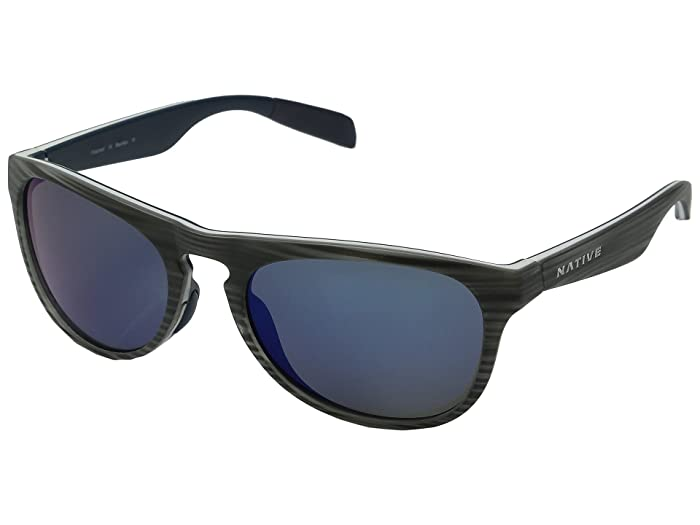 Native Eyewear Sanitas (Driftwood/White/Blue/Blue Reflex) Sport Sunglasses
