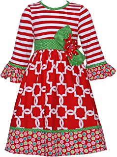 Counting Daisies Red/Green Holiday Dress (4-6x)