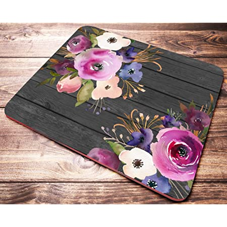 office desk accessories coworker gift round mouse pad desk decor Floral Mouse pad with wildflowers digital print