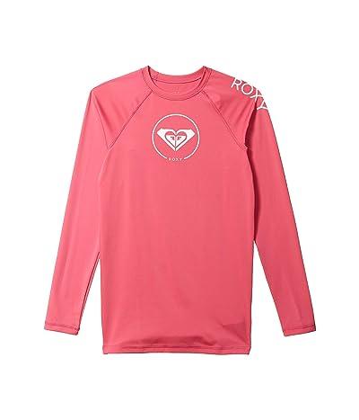 Roxy Kids Beach Classics Long Sleeve UPF 50 Rashguard (Big Kids) (Pink Flambe) Girl
