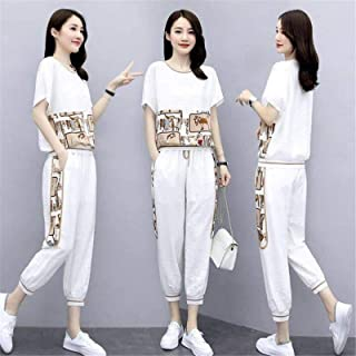 2 Piece Sets Women Casual Outfit Sportswear Tracksuits for Woman 2020 Summer Loose Two Pieces Set Plus Size Clothing