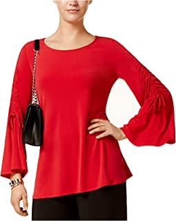 ced3afaef4d Alfani Women s Ruched Bell-Sleeve Top